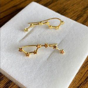 Big Dipper Gold Earrings Drop/Crawl/Cuff New